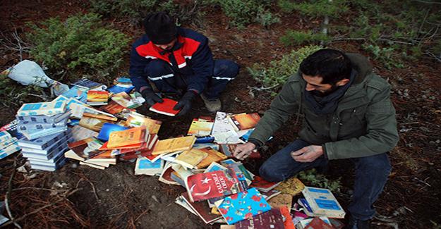 Ormanda yüzlerce FETÖ kitabı bulundu