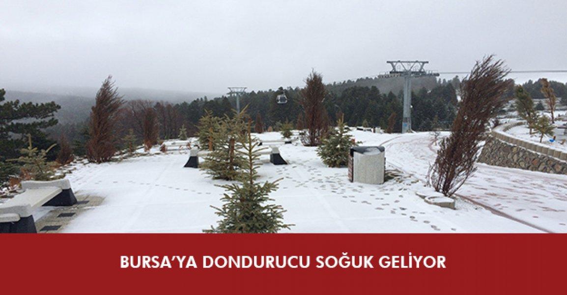 Bursa'ya dondurucu soğuk geliyor