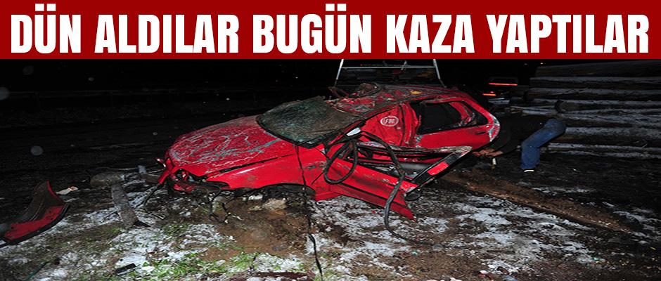 Dün aldıkları otomobille kaza yaptılar: 2'si kardeş 3 ölü