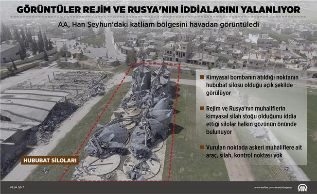 AA, katliam bölgesini havadan görüntüledi