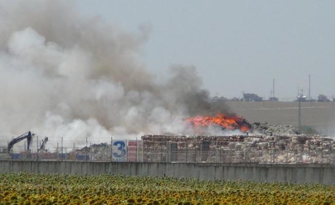 Tekirdağ'da Korkutan Yangın Meydana Geldi