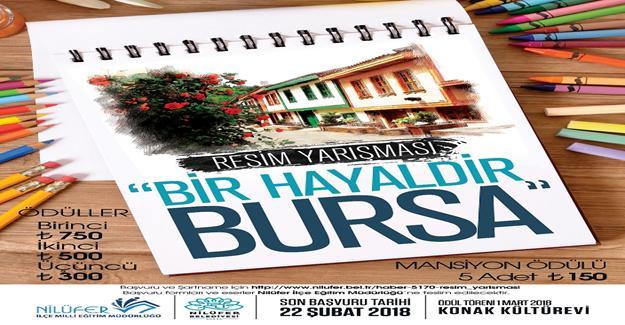 Çocuklar hayallerindeki Bursa'yı çizecek