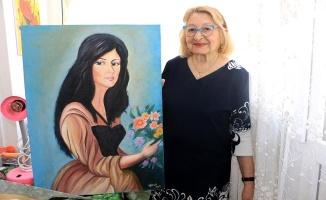 80'lik ninenin yağlı boya tabloları ilgi görüyor