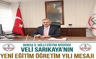 Bursa İl Milli Eğitim Müdürü Yeni Eğitim Öğretim Yılını Kutladı