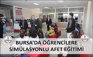 Bursa'da Öğrencilere Simülasyonlu Afet Eğitimi