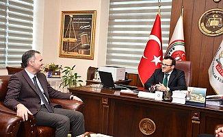 Ağır Ceza Mahkemesi Başkanı Mustafa Duran'a, Taban'dan hayırlı olsun ziyareti