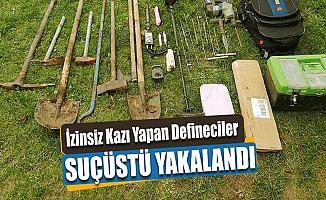 Bursa'da Defineci Operasyonu: Kazarken Yakalandılar!