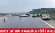 Bursa#039;daki Trafik Kazasında 1 Kişi Öldü, 3 Yaralı