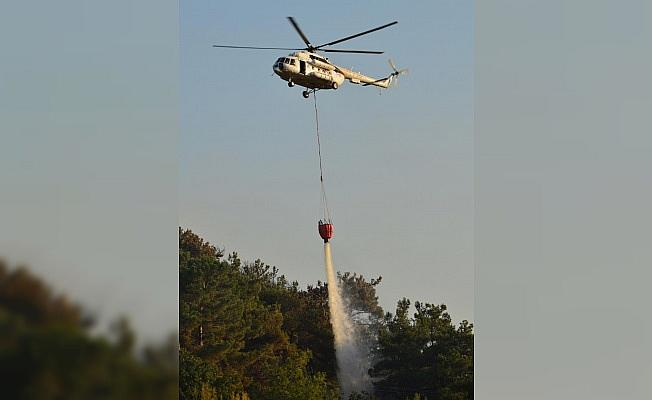 Çanakkale'de Orman Yangınına Havadan Müdahale Yapıldı