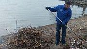 İznik Gölü kıyısında kış bakımı çalışmaları başladı