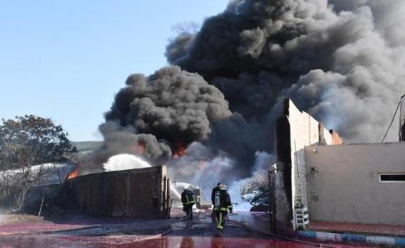 Yaylacıktaki Fabrika Yangını