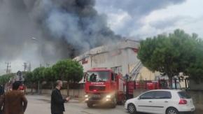 Bursa Kestel'de Tekstil Fabrikasında Yangın Çıktı