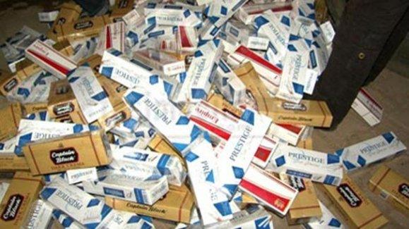 Çorlu'da bin 573 paket kaçak sigara ele geçirildi