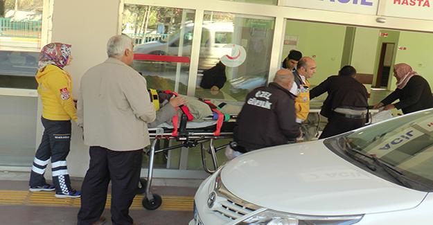 Köpeğin saldırdığı engelli vatandaş motosikletiyle kaza yaptı