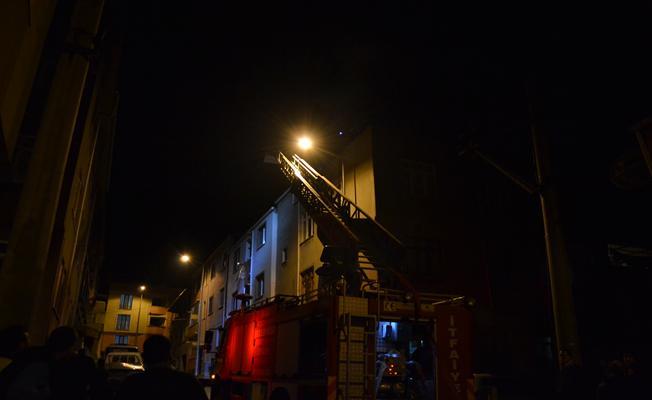 Biga'da çatı yangını