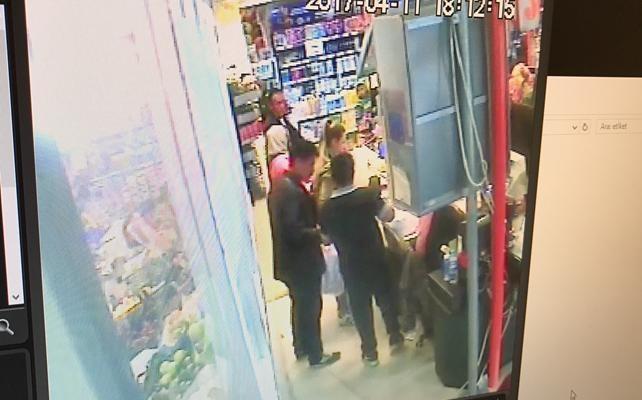 Bilecik'te marketteki hırsızlık güvenlik kamerasında