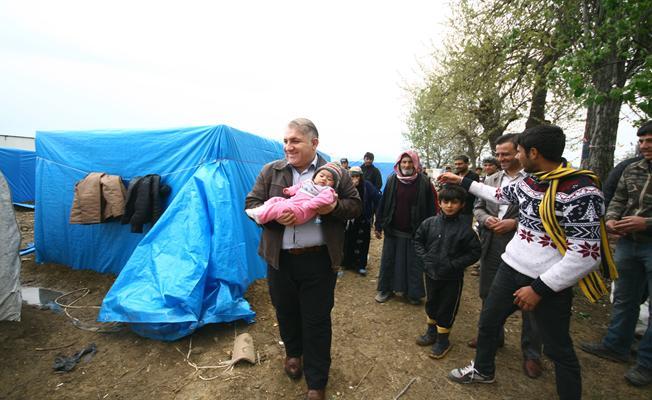 Kaymakam Seyitoğlu'ndan Suriyelilere ziyaret