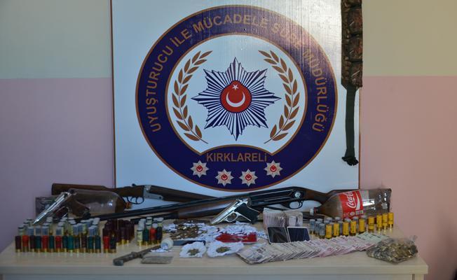 Kırklareli'nde uyuşturucu operasyonu