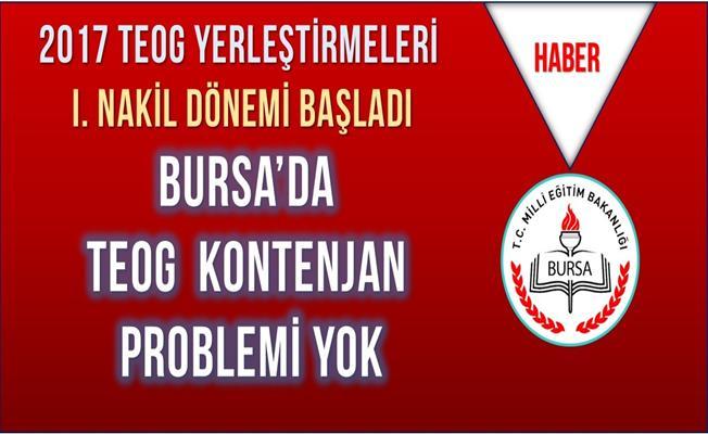 Bursa'da TEOG Kontenjan Problemi Yok