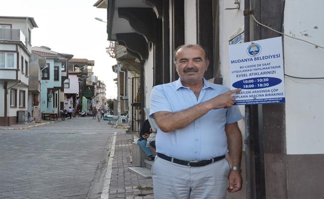 """Mudanya'da """"Çöp Saati"""" Uygulaması Başladı"""