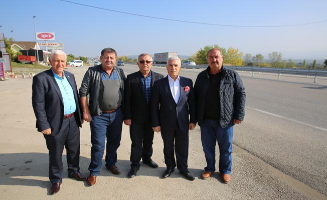 Karacaoba sakinlerinin üst geçit isyanına Bozbey'den destek