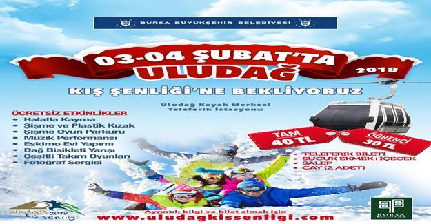 Uludağ Kış Şenliği 3-4 Şubat`a ertelendi