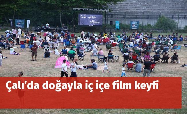 Çalı'da doğayla iç içe film keyfi