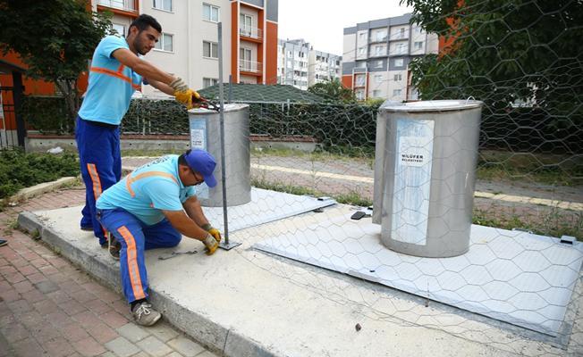 Nilüfer'de yer altı çöp konteynerleri yaygınlaşıyor