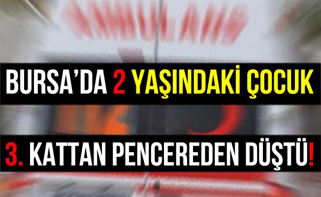 Bursa İnegöl'de Pencereden Düşen Çocuk Yaralandı