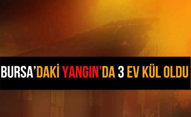 Bursa İnegöl'deki Yangında 2 Ev Küle Döndü