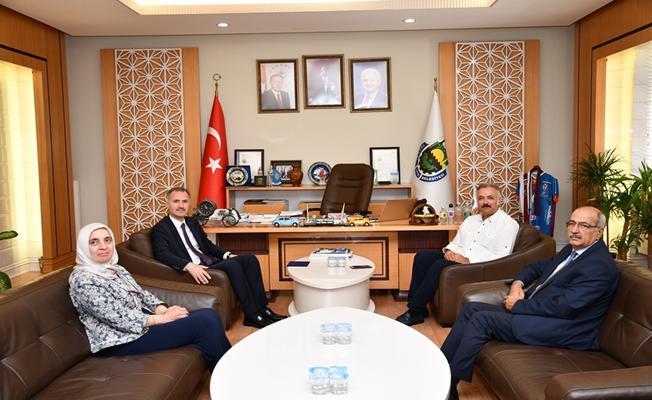 Kaymakam Akça'dan Başkan Taban'a Veda Ziyareti