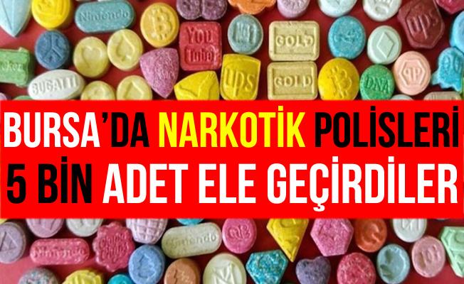 Bursa'da 5 Bin Adet Ecstasy Uyuşturucu Hapla Yakalandılar!
