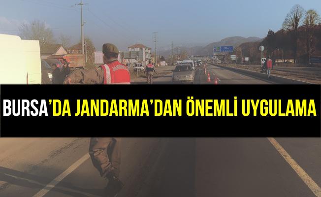 Bursa'da Jandarma'dan Önemli Uygulama