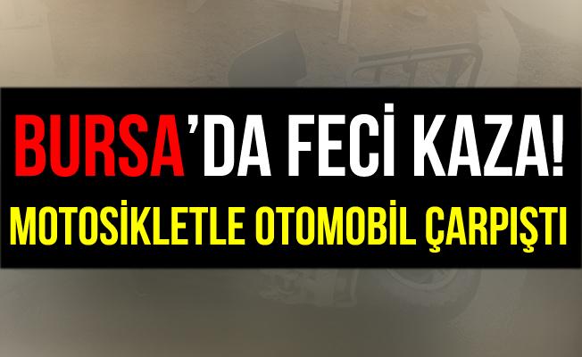 Bursa İnegöl'de Motosikletle Otomobil Çarpıştı: 2 Yaralı