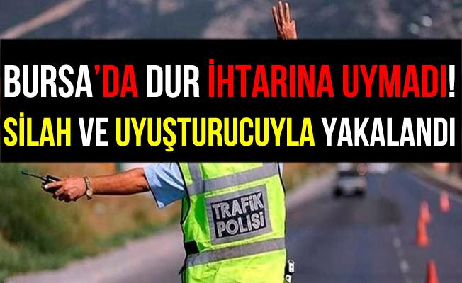 Bursa İnegöl'de Polisin Dur İhtarına Uymayan Şahıs Yakalandı!