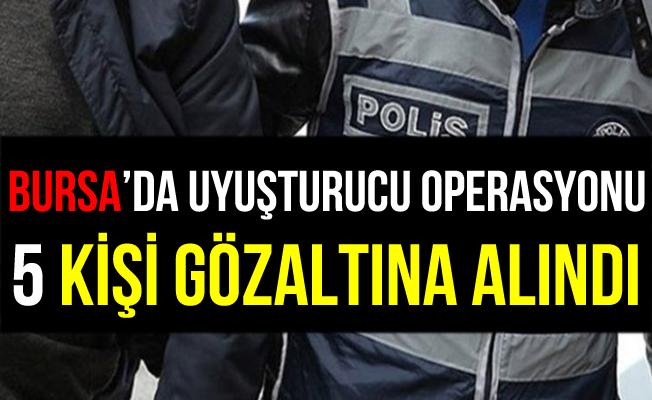 Bursa İnegöl'de Uyuşturucu Operasyonu: 5 Gözaltı