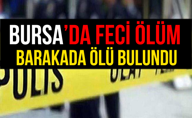 Bursa İznik'te Bir Şahıs Barakada Ölü Bulundu