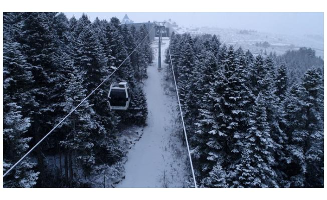 Bursa Uludağ'da Kar Sevinci!