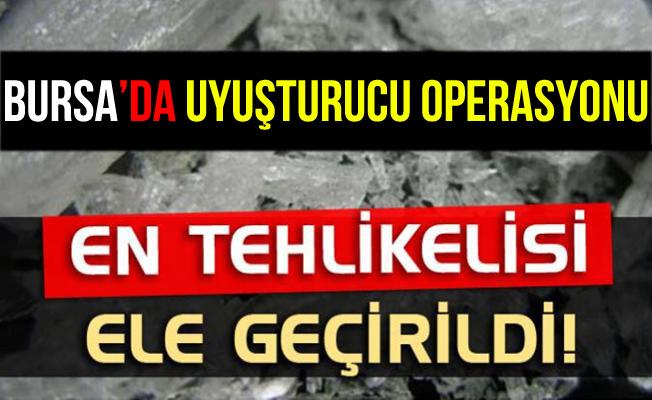 Bursa'da 200 Bin Liralık Metamfetamin Ele Geçirildi!