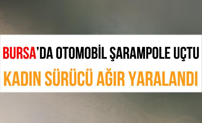 Bursa İnegöl'de Takla Atan Otomobil Şarampole Yuvarlandı