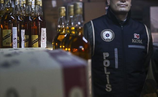 Bursa'daki Operasyonda 250 Litre Sahte İçki Ele Geçirildi
