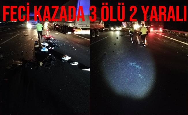 Ankara'daki Feci Kazada 3 Kişi Öldü 2 Kişi Yaralandı