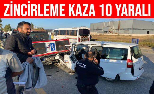 Ankara'daki Zincirleme Kazada 10 Kişi Yaralandı