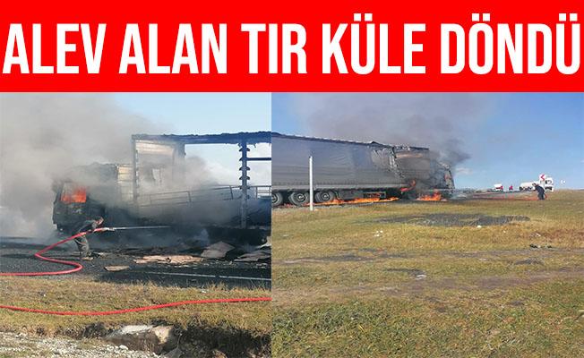 Ardahan'da Alev Alan TIR Alev Alev Yandı