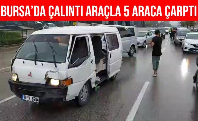 Bursa'da Çalıntı Araçla Polislerden Kaçan Şüpheli Yakalandı