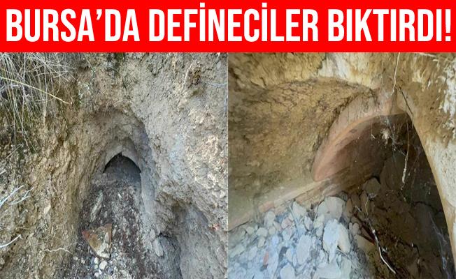 Bursa'da Defineciler Tarlaları Köstebek Yuvasına Çevirdiler