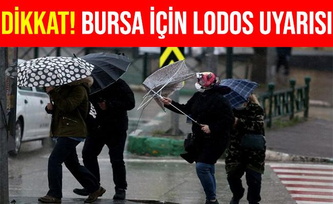 Bursa'da Dört İlçe İçin Lodos Uyarısı Yapıldı
