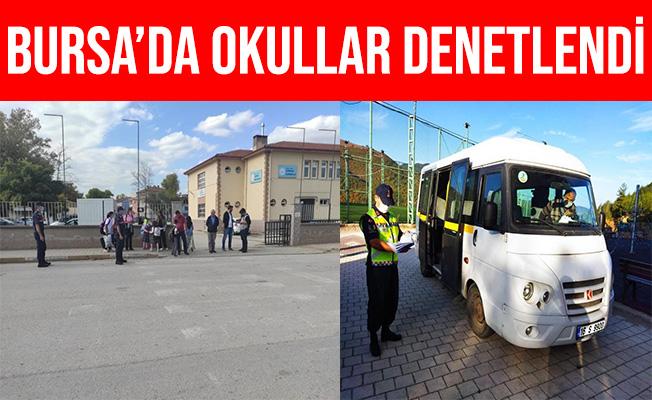 Bursa'da Jandarma Servis Araçlarında ve Okul Çevrelerini Denetledi