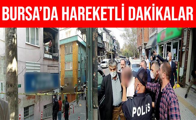Bursa'da Kendisini Eve Kilitleyerek Eşyaları Balkondan Attı