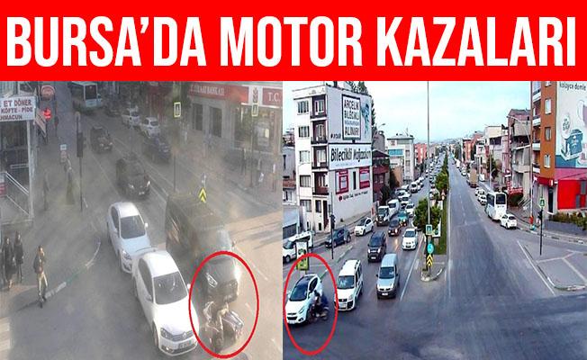 Bursa'da Motosiklet Sürücülerinin Ölümden Döndüğü Anlar